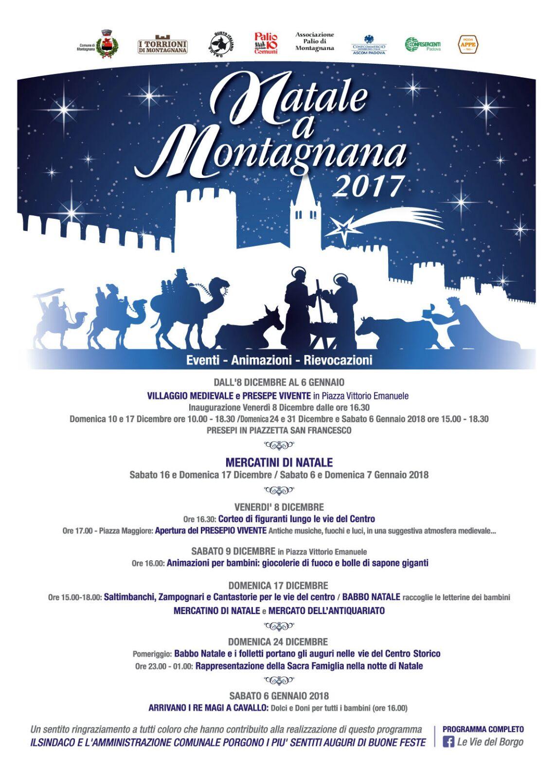Natale a Montagnana – eventi, animazioni e rievocazioni