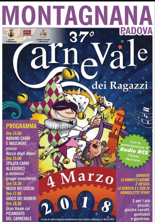 Carnevale dei Ragazzi a Montagnana – marzo 2018